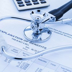 Medical professional working with medical malpractice insurance